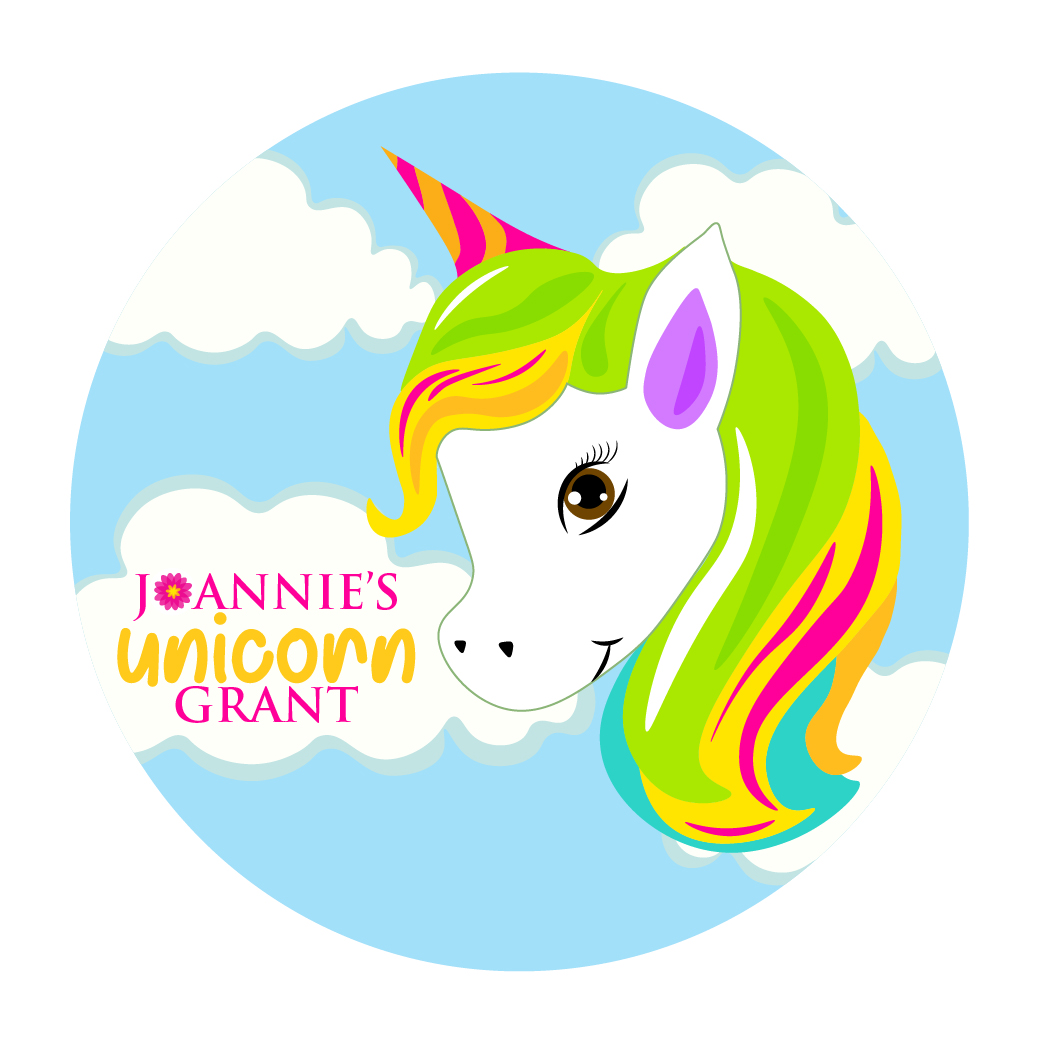 Unicorn cartoon picture with rainbow hair